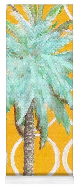Yellow Delilah Palm Yoga Mat