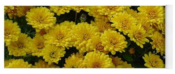 Yellow Fall Yoga Mat