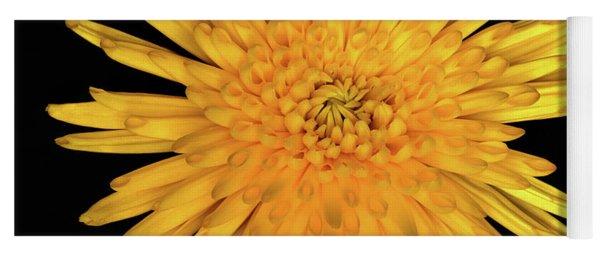 Yellow Flower Macro Yoga Mat