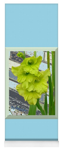 Yellow Gladiolas Yoga Mat