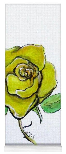 Yellow-green Rose Yoga Mat