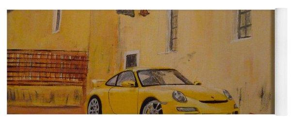 Yellow Gt3 Porsche Yoga Mat