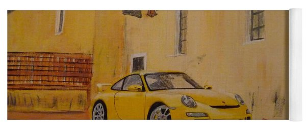 Yellow Gt3 Porsche Yoga Mat