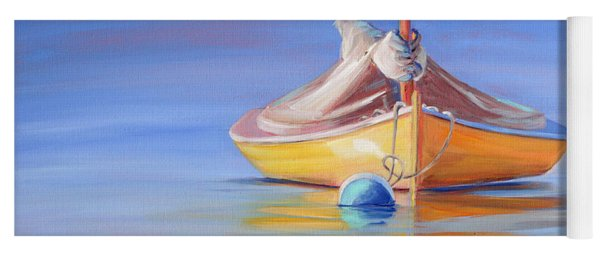 Yellow Hull Sailboat Iv Yoga Mat