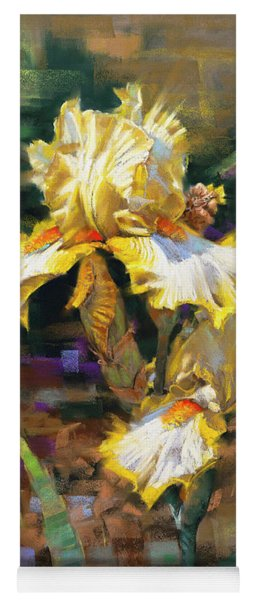 Yellow Iris II Yoga Mat