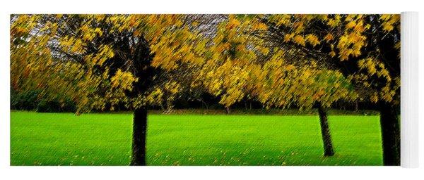 Yellow Leaves At Muckross Gardens Killarney Yoga Mat