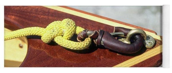 Yellow Line Yoga Mat