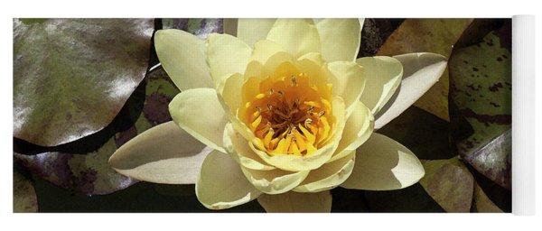Yellow Lotus In Watercolor Yoga Mat