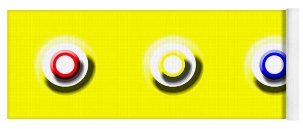 Yellow Nine Squared Yoga Mat