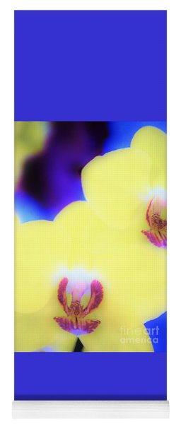 Yellow Orchid Yoga Mat