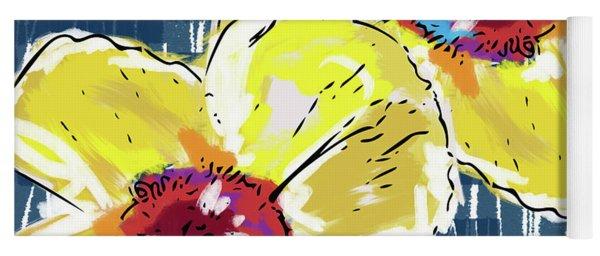 Yellow Poppies 2- Art By Linda Woods Yoga Mat