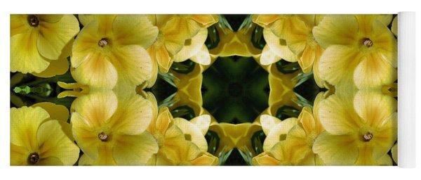 Yellow Primrose Kaleidoscope Yoga Mat