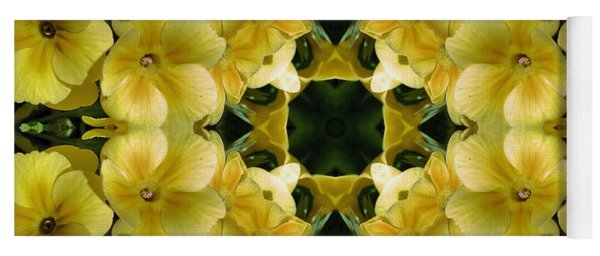 Yellow Primrose Kaleidoscope Yoga Mat