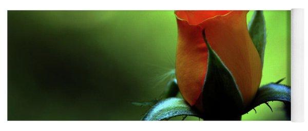 Yellow Rose In Splendor Yoga Mat