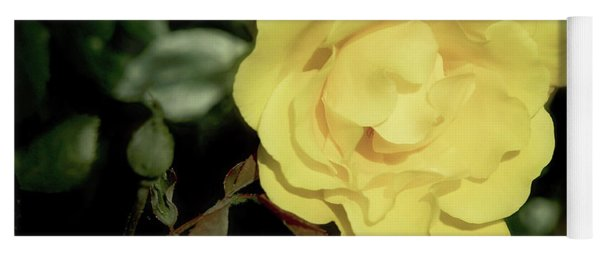 Yellow Rose Yoga Mat