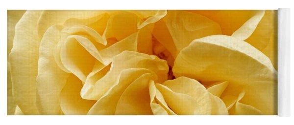 Yellow Ruffles - Rose Yoga Mat