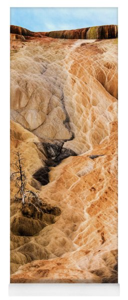 Yoga Mat featuring the photograph Yellow Stone National Park Abstract by Mae Wertz