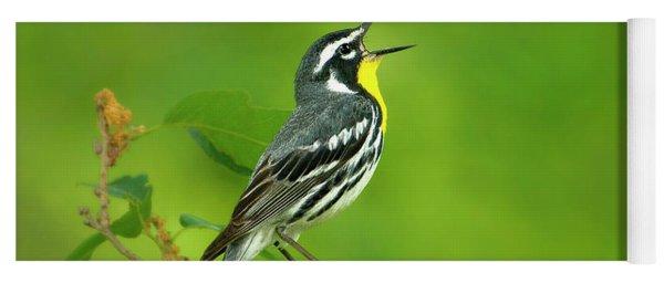 Yellow-throated Warbler Setophaga Dominica Albilora Wild Texas Yoga Mat