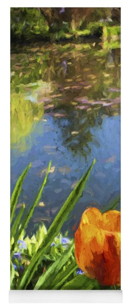 Yellow Tulip In Giverny  Yoga Mat