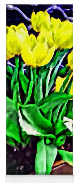 Yellow Tulips Yoga Mat