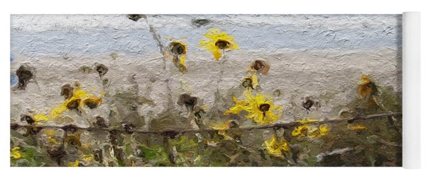 Yellow Wildflowers- Art By Linda Woods Yoga Mat