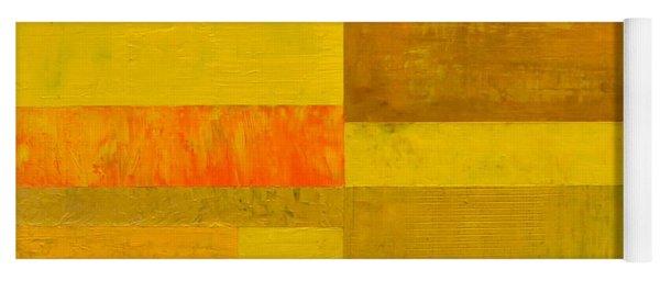 Yellow With Orange Yoga Mat