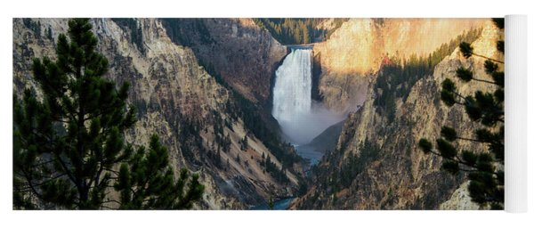 Yellowstone Falls Yoga Mat