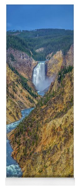 Yellowstone Falls Yoga Mat
