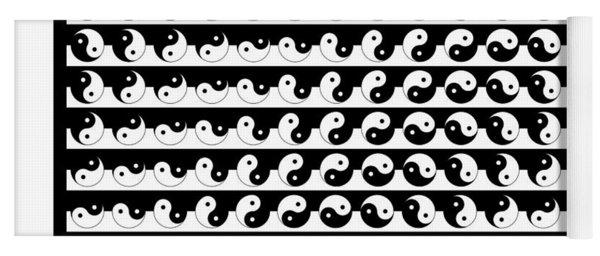Yin Yang Art Pattern Decor Black And White Yoga Mat