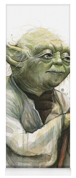 Yoda Watercolor Yoga Mat