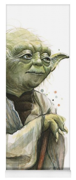 Yoda Watercolor Yoga Mat