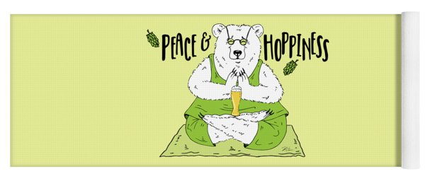 Yoga Beer Bear Yoga Mat