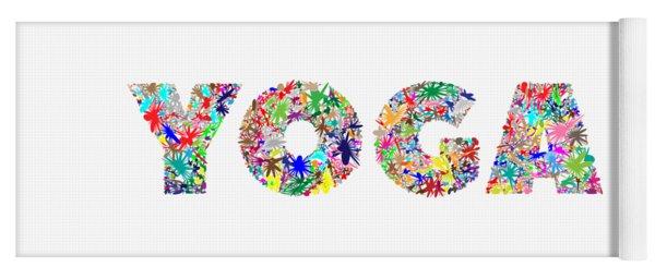 Yoga Word Art Yoga Mat