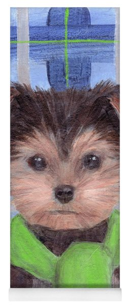 Yorkie Poo With Scarf Yoga Mat