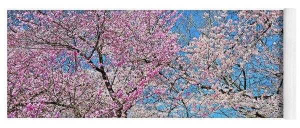 Yoschino Cherry Blossoms Blue Sky Yoga Mat