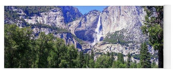 Yosemite Valley Waterfall Yoga Mat