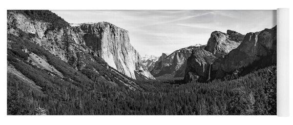 Yosemite B/w Yoga Mat