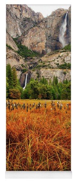 Yosemite Falls Autumn Colors Yoga Mat