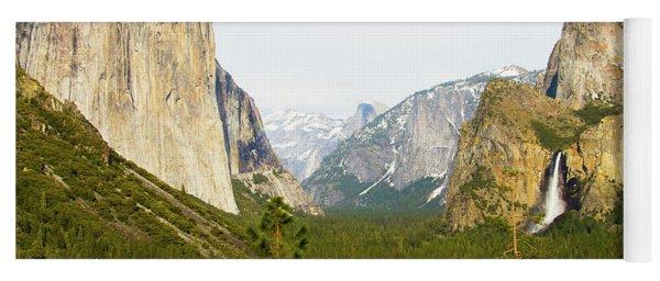 Yosemite Valley Half Dome El Capitan And Bridalveil Fall 7d6067  Yosemite National Park Is A United  Yoga Mat