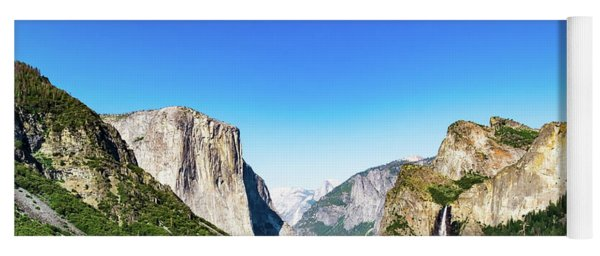 Yoga Mat featuring the photograph Yosemite Valley- by JD Mims