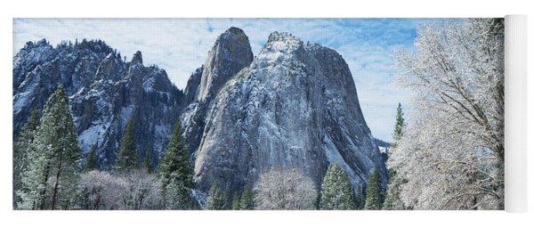 Yosemite Winter Fantasy Yoga Mat