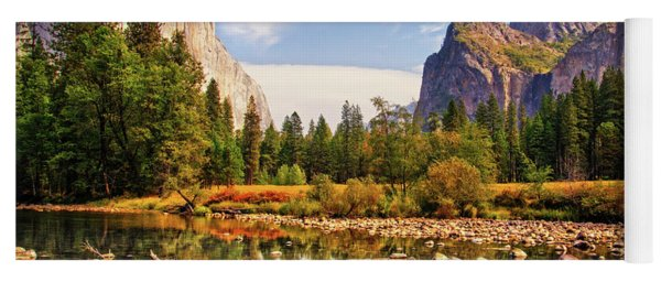 Yoga Mat featuring the photograph Yosemite's Valley View by Lynn Bauer