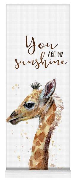 You Are My Sunshine Giraffe Yoga Mat