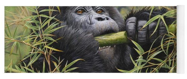 Young Mountain Gorilla Yoga Mat
