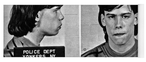 Young Steven Tyler Mug Shot 1963 Pencil Photograph Black And White Yoga Mat