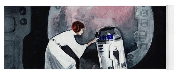 You're My Only Hope Princess Leia And R2d2 Yoga Mat