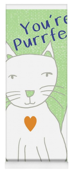 You're Purrfect- Art By Linda Woods Yoga Mat
