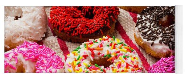 Yummy Donuts Yoga Mat