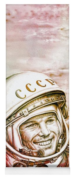 Yuri Gagarin - Cosmonaut 1961 Watercolor Yoga Mat
