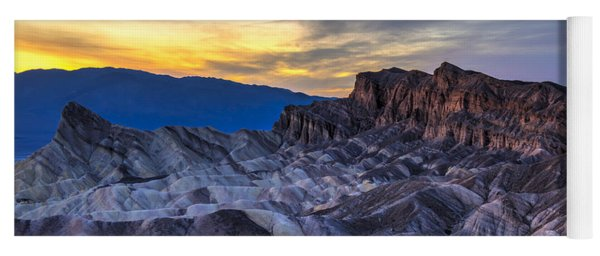Zabriskie Point Sunset Yoga Mat